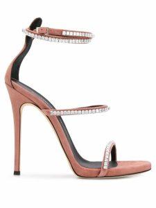 Giuseppe Zanotti gemstone heeled sandals - Pink