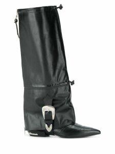 Toga Pulla knee-high boots - Black