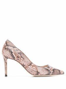 Giuseppe Zanotti snakeskin effect pumps - Pink