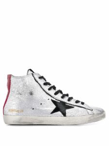 Golden Goose Francy hi-top sneakers - SILVER