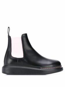 Alexander McQueen contrast panels chelsea boots - Black