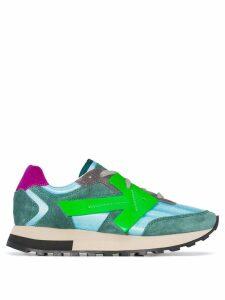 Off-White Runner low-top arrow sneakers - Green