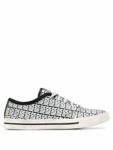 Just Cavalli low-top logo print sneakers - Black