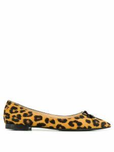 Prada leopard pattern ballerinas - Brown
