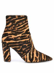 Prada leopard print boots - Brown