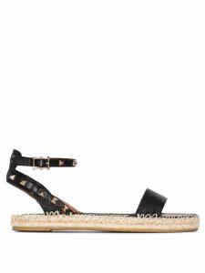 Valentino Valentino Garavani Rockstud espadrille sandals - Black