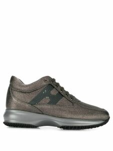 Hogan metallic logo sneakers - Grey
