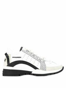Dsquared2 glitter sneakers - White