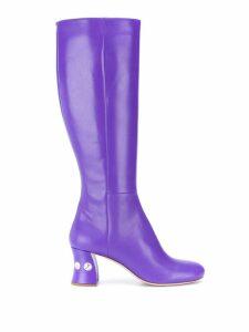 Miu Miu embellished heel 65 boots - Purple
