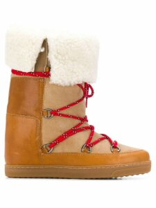 Isabel Marant Nowly snow boots - Neutrals