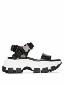 Prada chunky flatform sandals - Black