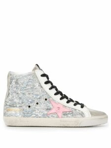 Golden Goose sequin hi-top sneakers - Silver