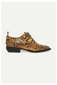 Chloé - Rylee Snake-effect Leather Brogues - Snake print