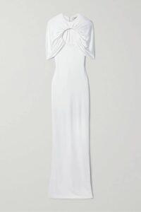 Alexandre Birman - Clarita Bow-embellished Linen Sandals - Cream