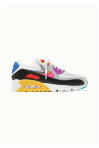 Nike - + Gilbert Baker Air Max 90 Betrue Pride Rubber-trimmed Leather And Mesh Sneakers - White