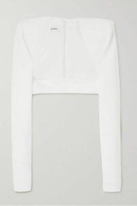 Jimmy Choo - Minori 85 Embellished Leather Ankle Boots - Black