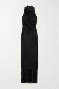 Miu Miu - Shearling-trimmed Leather Boots - Black