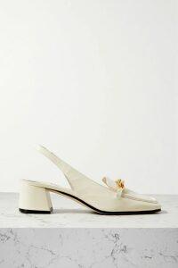 Balmain - Ranger Logo-debossed Leather Ankle Boots - Black