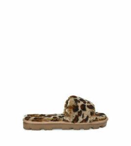 UGG Women's Cozette Leopard Slipper in Amphora Brown, Size 6