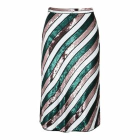 Diane Von Furstenberg Sheen Sequin Silk Skirt