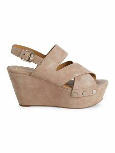 Bianka Suede Wedge Sandals