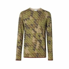 Burberry Monogram Print Merino Wool Sweater
