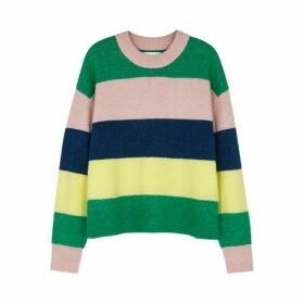 Samsøe & Samsøe Anour Striped Wool-blend Jumper