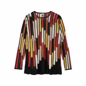 M Missoni Striped Fine-knit Jumper
