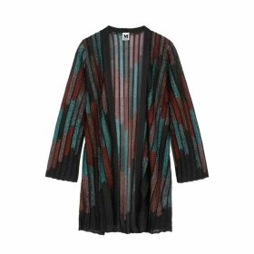 M Missoni Striped Metallic Fine-knit Cardigan
