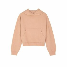 Nanushka Mog Light Pink Hooded Wool-blend Jumper