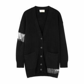 Christopher Kane Crystal-embellished Wool Cardigan