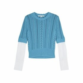 Veronica Beard Spence Layered Cotton-blend Jumper