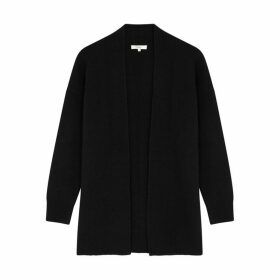 Vince Black Wool And Cashmere-blend Cardigan
