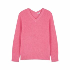 Filippa K Pink Knitted Alpaca Wool Jumper