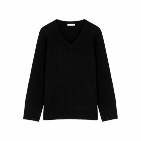 THE ROW Elaine Black Wool-blend Jumper