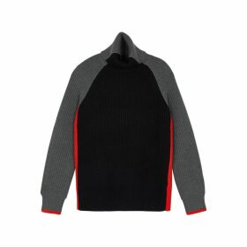 Victoria, Victoria Beckham Panelled Roll-neck Wool Jumper