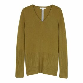 Duffy Olive Cashmere Jumper
