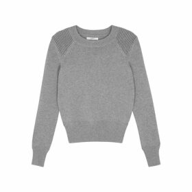 Isabel Marant Étoile Kleeza Grey Cotton-blend Jumper