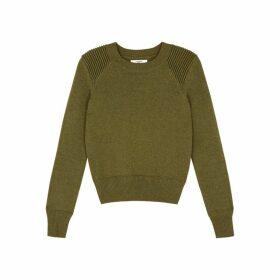 Isabel Marant Étoile Kleeza Olive Cotton-blend Jumper