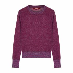 Sies Marjan Pierre Purple Metallic-weave Jumper