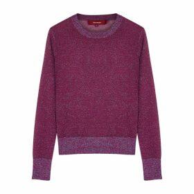Sies Marjan Pierre Purple Metallic-weave Jumper