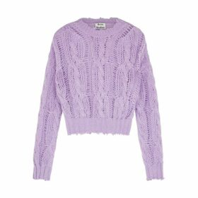 Acne Studios Lilac Open-knit Jumper