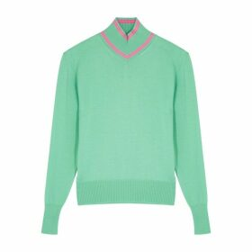 Maggie Marilyn Make A Difference Green Merino Wool Jumper
