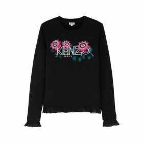 Kenzo Black Embroidered Cotton Jumper