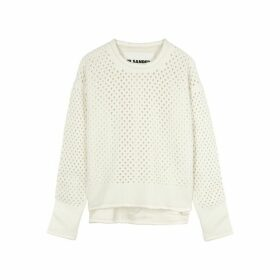 Jil Sander Cream Open-knit Wool Jumper
