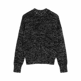 Jil Sander Monochrome Flecked Wool-blend Jumper