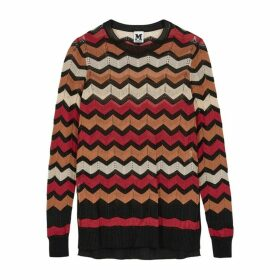 M Missoni Terracotta Zigzag-knit Jumper