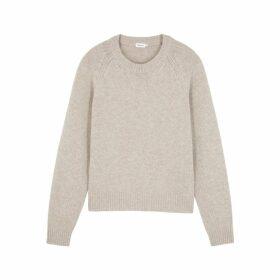 Filippa K Sand Knitted Mélange Wool And Cashmere-blend Jumper