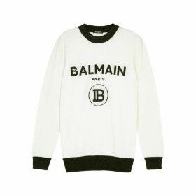 Balmain Logo-intarsia Wool-blend Jumper