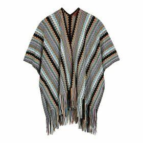 Missoni Zigzag Wool-blend Poncho